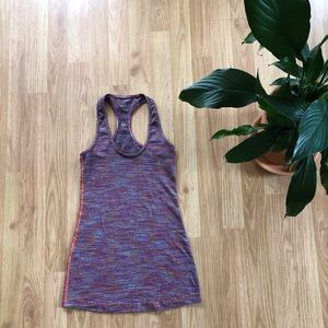 Lululemon multicolor cool racerback tank top